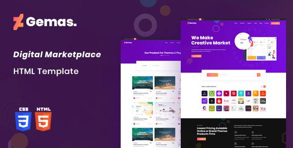 Excellent Gemas - Multi-Vendor Digital Marketplace HTML5 Template