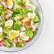 Fresh vegetable salad with cucumber, radish, lettuce and boiled eggs - PhotoDune Item for Sale