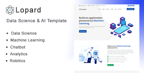 Lopard - Data Science & AI HTML Template by Rocks_theme