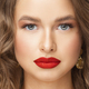 Portrait of attractive young lady with bright makeup - PhotoDune Item for Sale