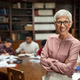 Smiling university professor in library - PhotoDune Item for Sale