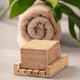 Soap and towel close up, SPA and relaxation concept - PhotoDune Item for Sale