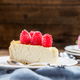 Homemade Vanilla Cheesecake with Raspberries - PhotoDune Item for Sale