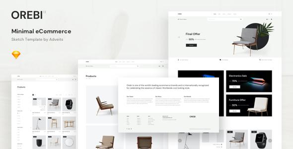 Orebi - Minimal eCommerce Sketch Template by adveits