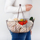Woman keeps backet with fresh vegetables and fuits  in textile bags - PhotoDune Item for Sale