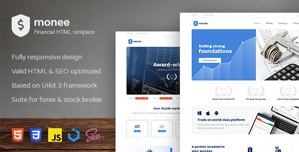 Monee - Forex and Stock Broker HTML Template