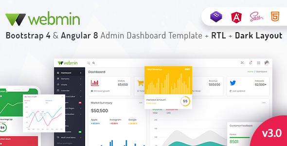 Fabulous Webmin - Bootstrap 4 & Angular 8 Admin Dashboard Template