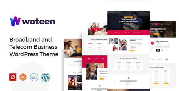 Download Woteen - Broadband and Telecom Business WordPress Theme Free Nulled