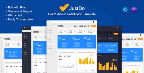 Exceptional JustDo - React Responsive Admin Template