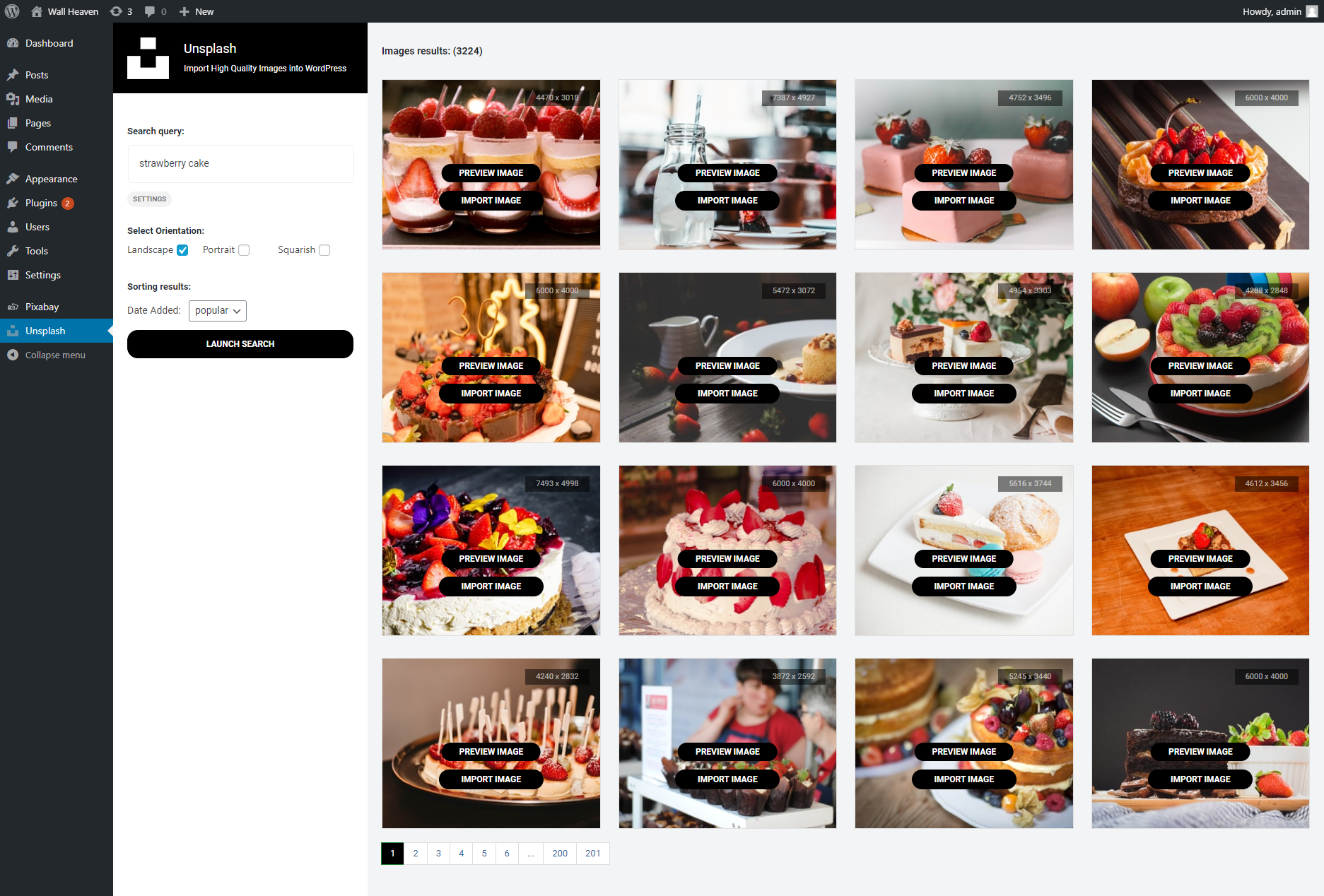 Unsplash - Import Free High-Resolution Images into WordPress by AA-Team