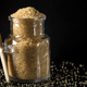 Glass jar filled with granulated brown sugar - PhotoDune Item for Sale