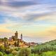 Vinci, Leonardo birthplace, village skyline and olive trees. Florence, Tuscany Italy - PhotoDune Item for Sale