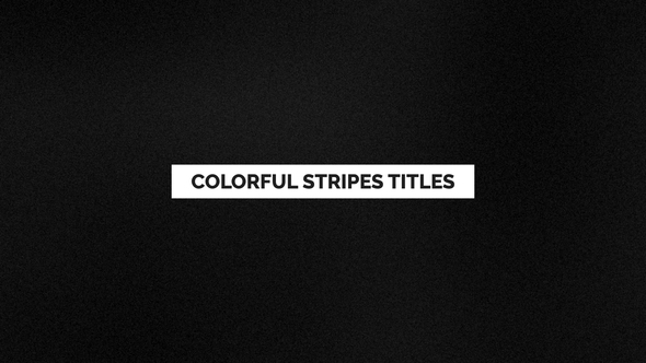 Colorful Stripes Titles | Essential Graphics