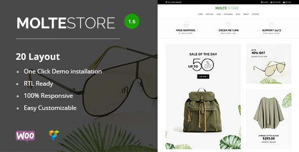 Download Molte – Store Fashion and Food WooCommerce Theme Free Nulled
