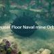 Underwater Floor Naval mine Orbit Shot