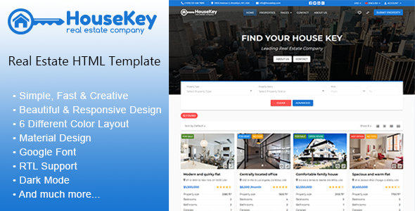 HouseKey - Real Estate HTML Template by theme_season