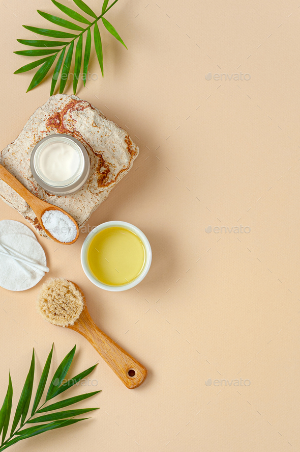 Body care cosmetics. Background image with free space for text. - Stock Photo - Images