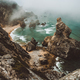 Sentra, Portugal. Moody foggy weather at Praia da Ursa beach on morning. Rough Atlantic Ocean - PhotoDune Item for Sale