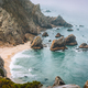Sintra, Portugal. Rocky coastline of Praia da Ursa near Cape Roca and morning light and Atlantic - PhotoDune Item for Sale