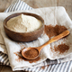 Teff flour in a bowl and teff grain with a spoon - PhotoDune Item for Sale