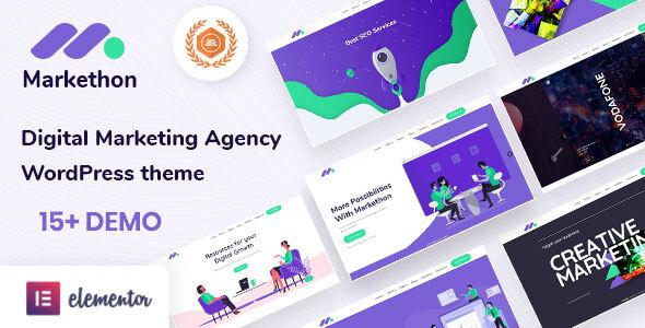 Markethon - SEO & Digital Marketing Agency Portfolio WordPress Theme