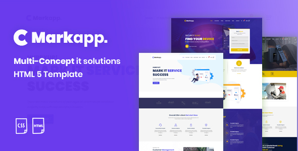 MarkApp HTML5 Modern Multipurpose Business and Corporate Template