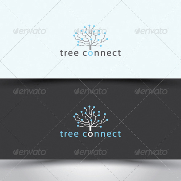 Tree-connect logo - Nature Logo Templates