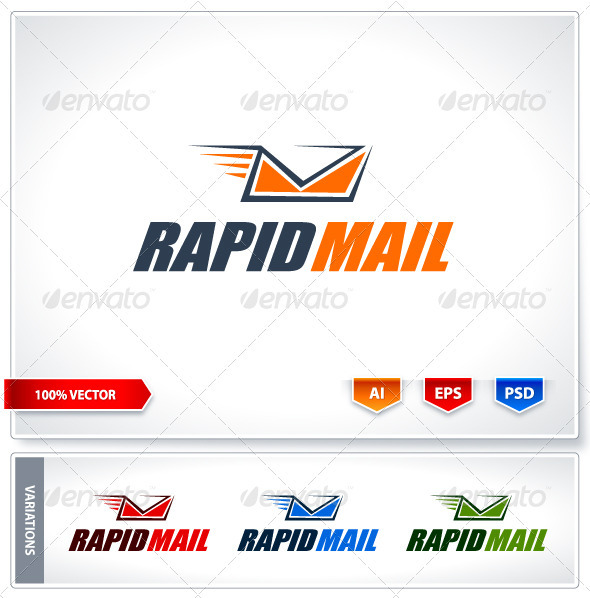 Rapid mail logo template - Logo Templates