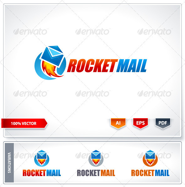Rocket mail logo template - Logo Templates