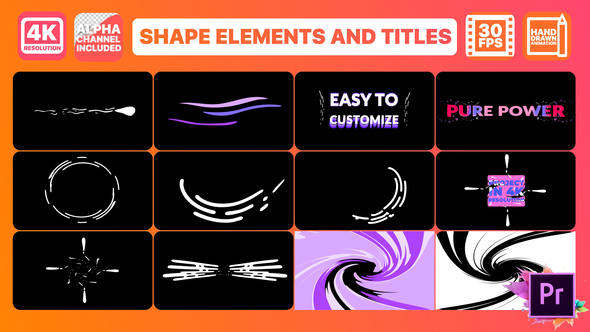 Dynamic Shapes And Titles | Premiere Pro MOGRT