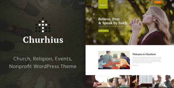 Churhius - Church Religion WordPress Theme