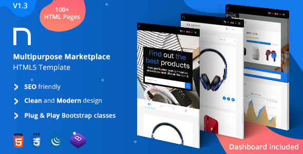 Nookx - Multipurpose Buy & Sell - Digital Marketplace Responsive HTML Template with admin panel