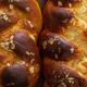 Easter greek tsoureki braid, sweet bread brioche background - PhotoDune Item for Sale