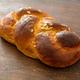 Sweet bread, easter greek tsoureki braid on wood background - PhotoDune Item for Sale