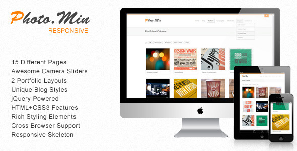 Photomin – Responsive HTML Template