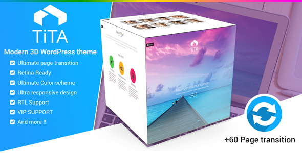 Tita 3D - Modern WordPress Theme