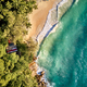 Beach at Seychelles aerial top view - PhotoDune Item for Sale
