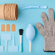Gardening tools on blue background flat lay - PhotoDune Item for Sale