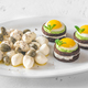 Appetizer with canape, mozzarella and capers - PhotoDune Item for Sale