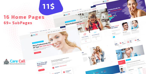 Marvelous Carecall - Medical and Dental HTML Template