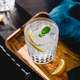 Refreshing cold summer cocktail with soda water, lemon and ice cubes on a wooden tray. - PhotoDune Item for Sale
