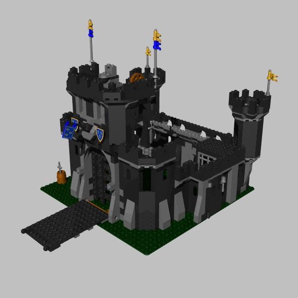 LEGO black castle - 3DOcean Item for Sale
