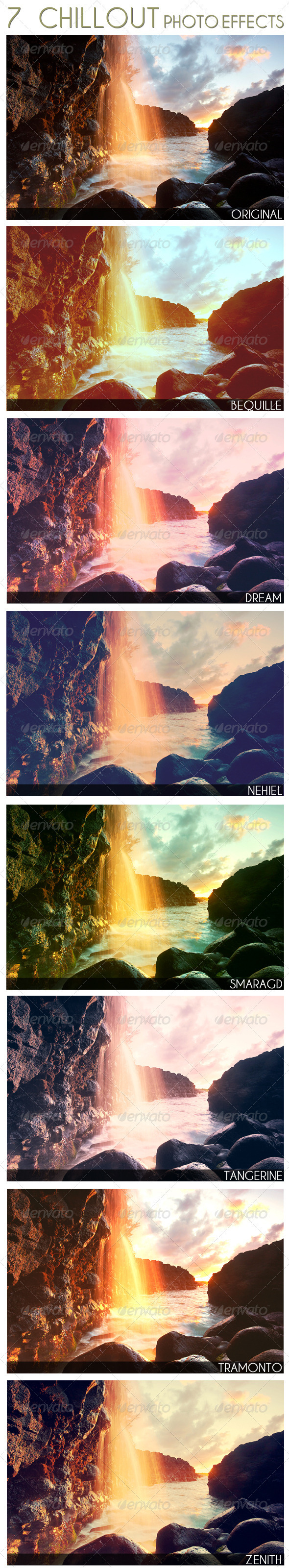 7 Chillout Photo Effects - Photo Templates Graphics