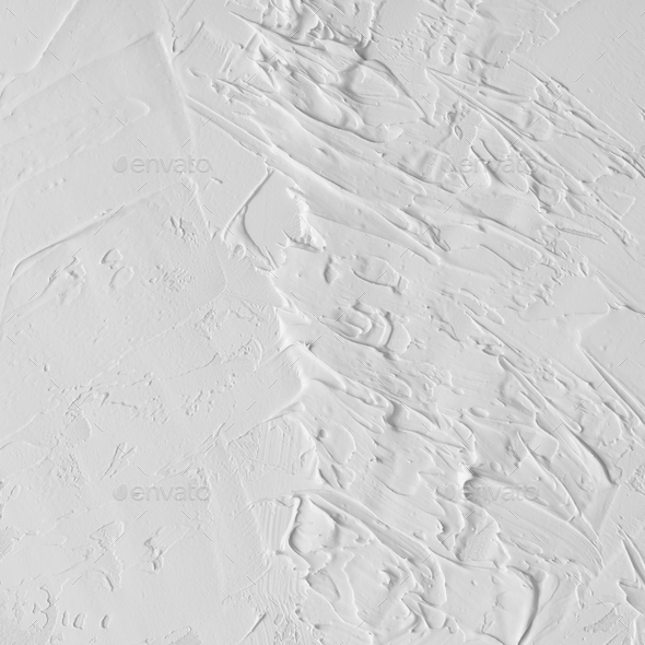 White abstract oil paint texture on canvas or wall. - Stock Photo - Images