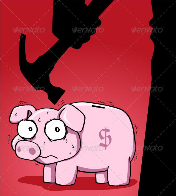 Piggy Bank - Characters Vectors