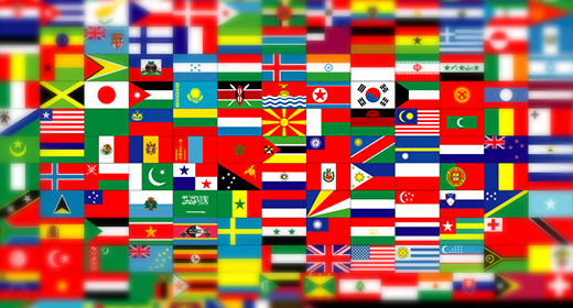World flags royalty-free stock footage