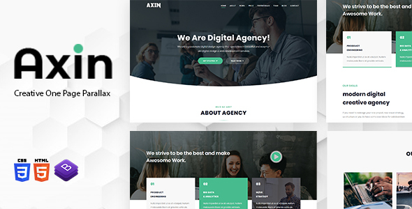 Axin - One Page Parallax