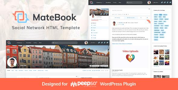 MateBook - Social Network HTML Template by Monkeysan