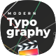 Modern Typography for FCPX - VideoHive Item for Sale