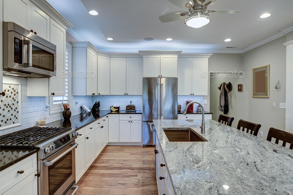 Granite Countertops And White Cabinets, Granite Countertops With White Cabinets